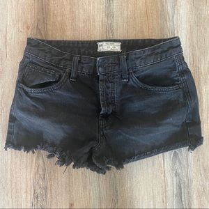 Free people button up jeans shorts